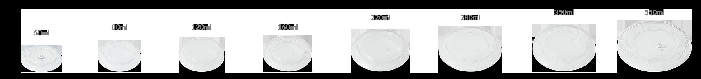 tampas para potes de papel, diversos tamanhos, cor branco, 100% biodegradável, reciclável, pote para bolo, pote para sorvete, pote para açai