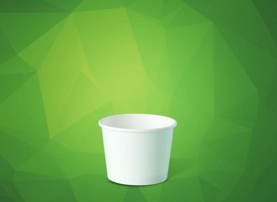 pote de papel descartável para sorvetes, fastfood, tamanho 120 ml