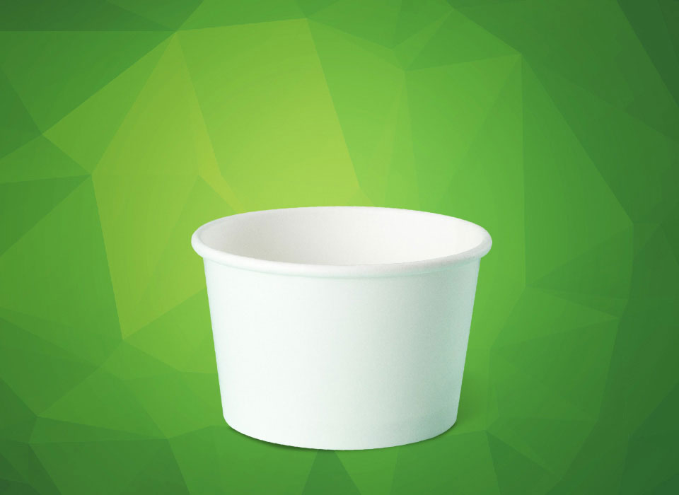 pote descartável de papel personalizado para sorvete, fastfood, bolo, açaí, tamanho 280 ml