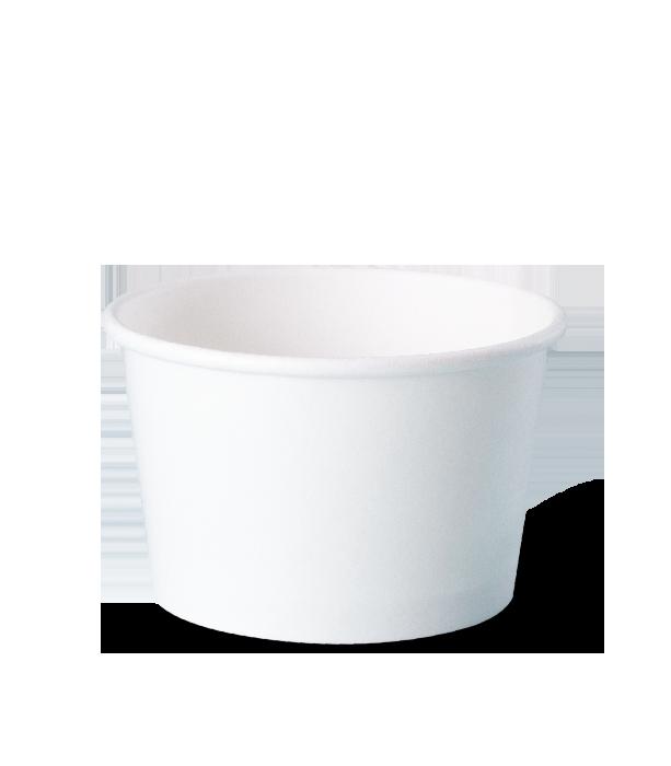 pote descartável de papel personalizados para sorvete, fastfood, bolo, açaí, tamanho 280 ml
