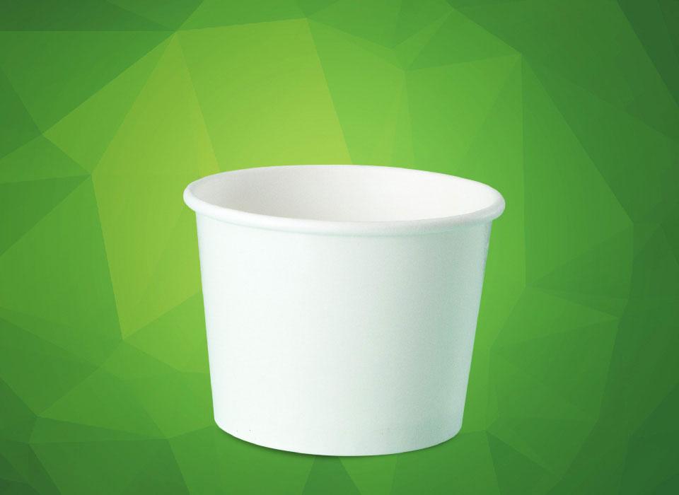 pote de papel personalizado para sorvete, fastfood, bolo, açaí, tamanho 350 ml