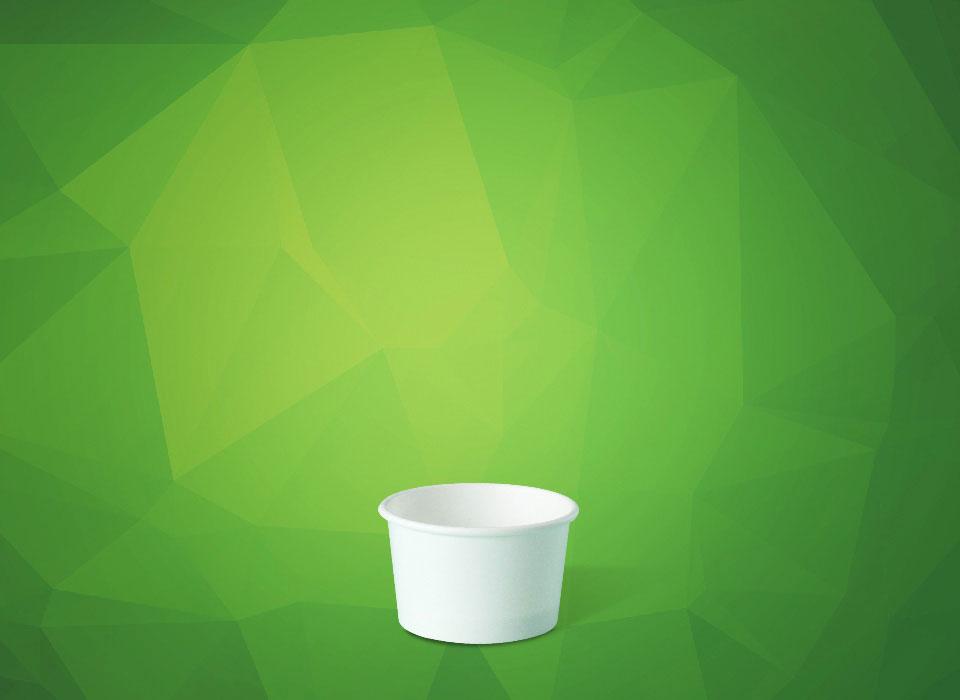 pote de papel personalizado para sorvete, molho, açaí, tamanho 50 ml