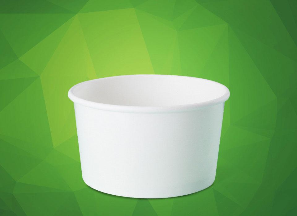 pote de papel personalizado para sorvete, fastfood, bolo, açaí, tamanho 550 ml
