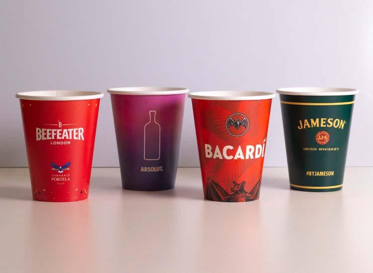copos de papel descartáveis personalizados para refrigerante, suco, bebidas e eventos