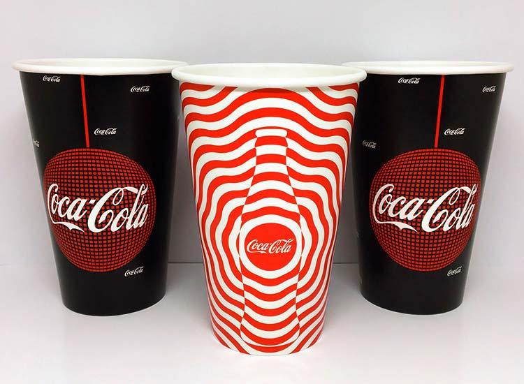 copo de papel personalizado para refrigerante, suco, bebidas e eventos como coca-cola, cinema, filmes