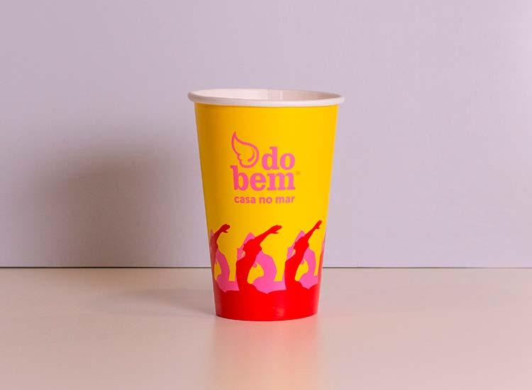 copo de papel biodegradável para refrigerante, suco, bebidas e eventos