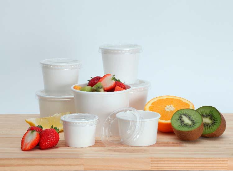 tampas para potes de papel biodegradáveis