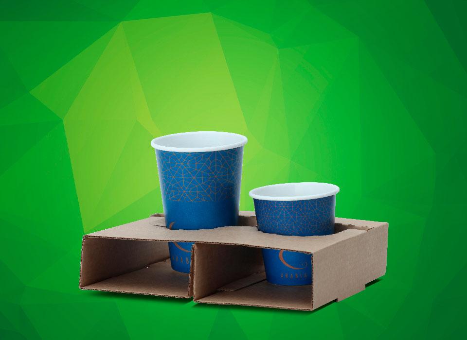 suporte para 2 copos descartáveis de papel